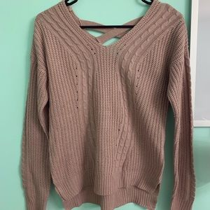 Light-Tan/Mauvy Brown Knit Sweater✨